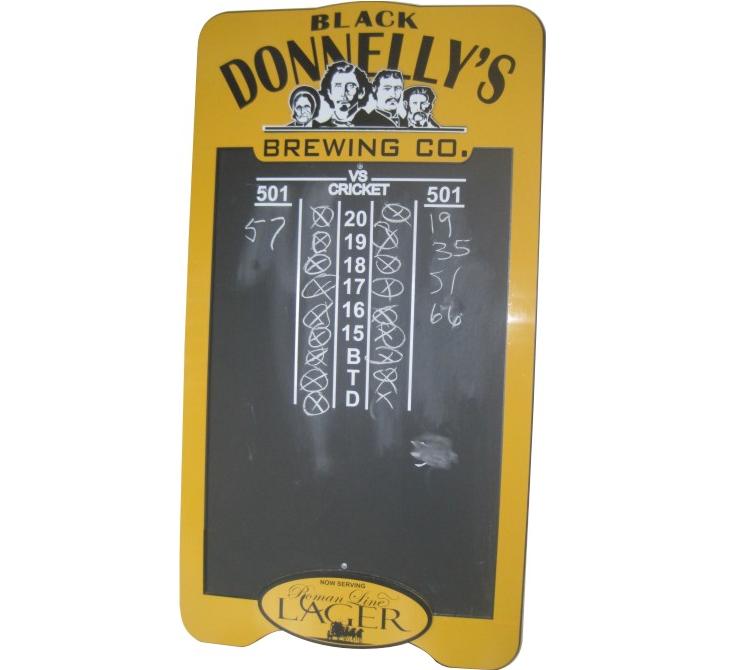 Black Donnellys Chalk Board